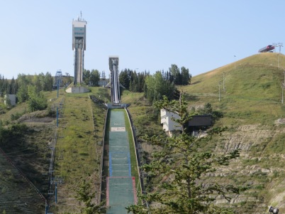 Top of zipline at Canada Olympic Park
