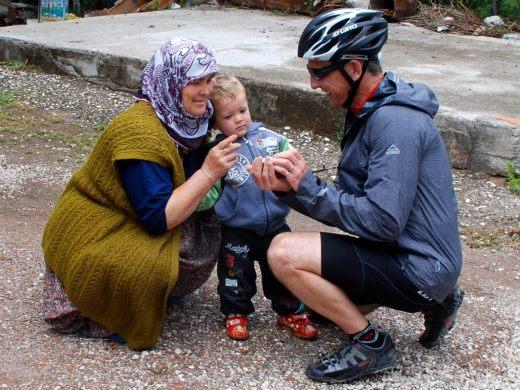 Turksih Mom and son see digital photo
